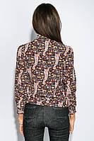 Блузка женская яркий принт 794K004-6 (Сине-бежевый)