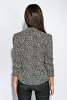 Блузка женская стильный крой 794K004-11 (Сине-бежевый)