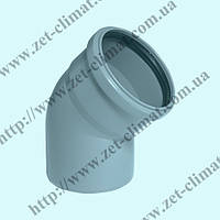 Колено 32 мм 45⁰ для внутренней канализации ППР