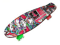 Скейт Profi Penny Board LED MS0748-4 Print, фото 1