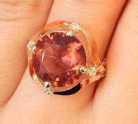 Кольцо серебряное с золотыми накладками Ивета с турмалином