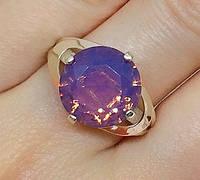 Кольцо серебряное с золотыми накладками Ива с турмалином