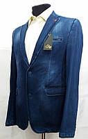 Джинсовый приталенный мужской пиджак Paul Dias 1110