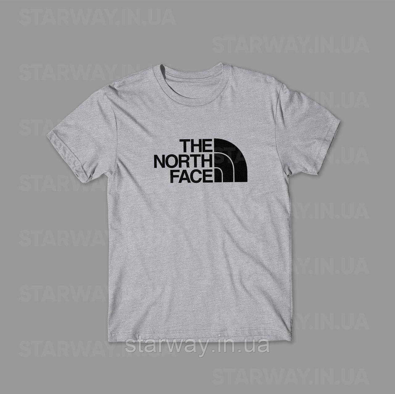 Футболка стильная принт The North Face лого топ