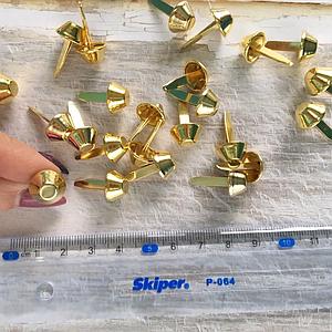 Ножки для дна сумки 12мм, цвет золото