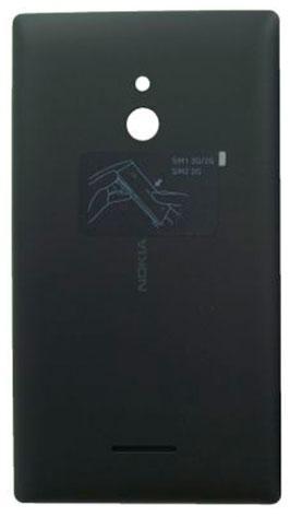 Задняя крышка Nokia XL Dual Sim (RM-1030) чёрная оригинал