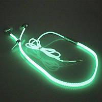 Светящиеся наушники в темноте: Гарнитура флуоресцентная!