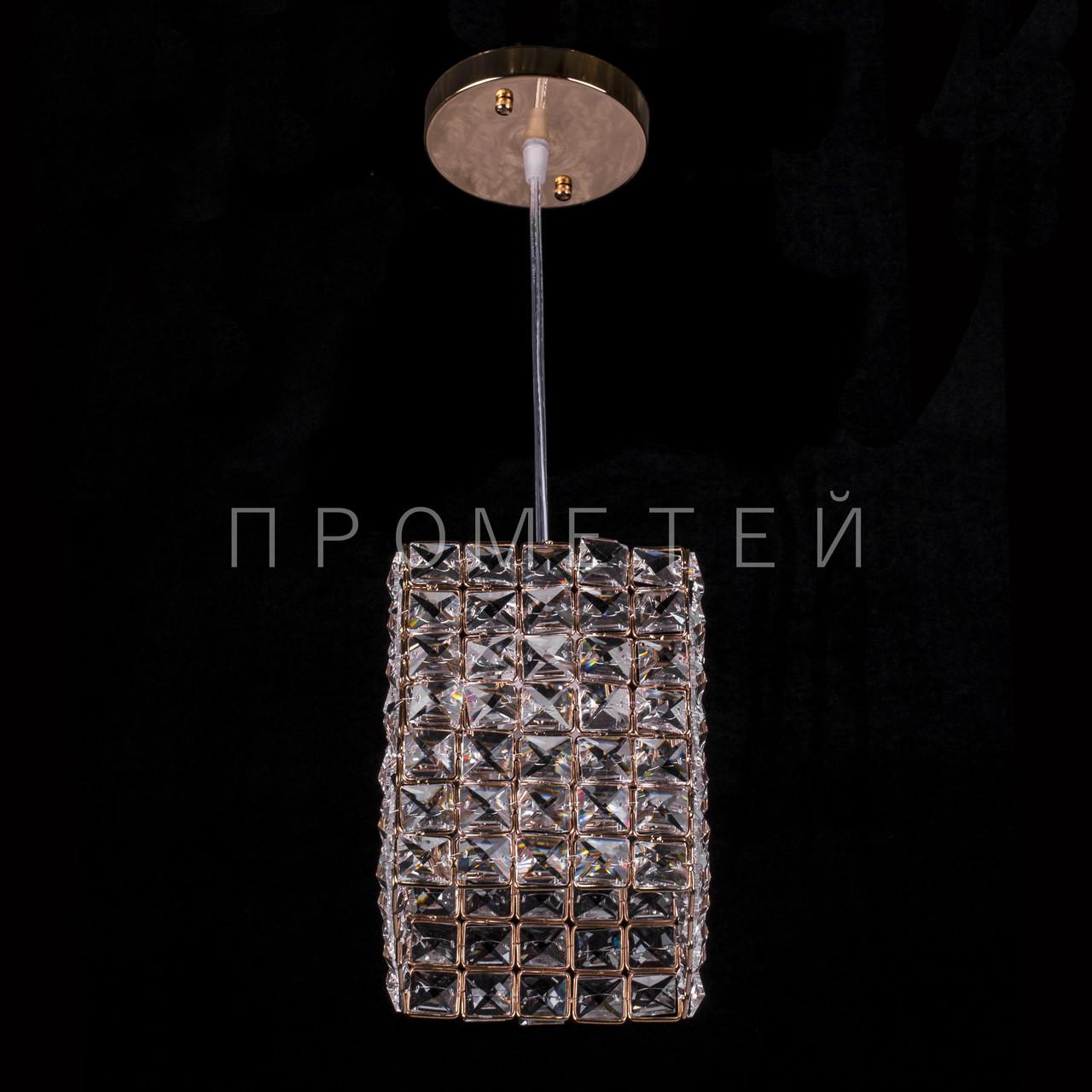 Люстра подвесная хрустальная на 1 лампочку (золото) P5-E1060/1H/FG