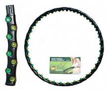 Обруч массажный JS-6002 (hula hoop,пластик,2-х рядный,8 секций,d-97см)