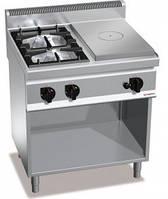 Газовая плита GGM GHGB879H+GB4 + жарочная поверхность с 4-мя горелками (17,5 кВт) + духовой шкаф (4 кВт)