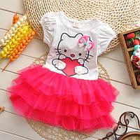 Платье детское летнее для девочки Китти 1-3годика