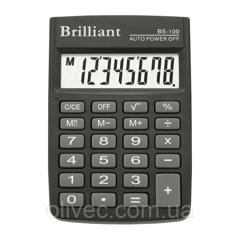 """Калькулятор карманный """"Brilliant"""" 8 разрядный"""