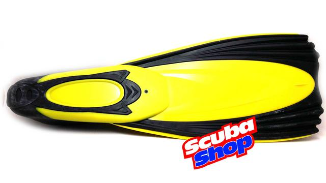 Ласты Verus EXTREM с закрытой пяткой для плавания, цвет желтый