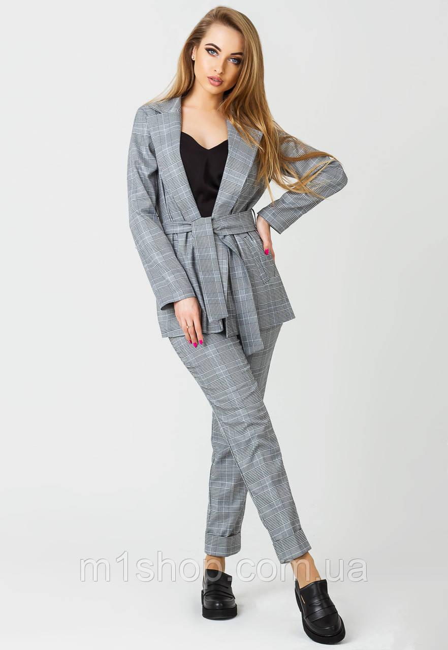 4b822f690fe9 Женский деловой костюм в клетку (Одри клетка leo) - « m1shop » женская  одежда