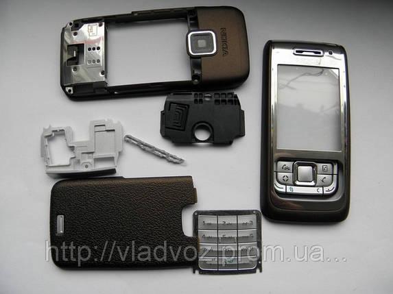 Корпус Nokia E65 кофейный без клавиатуры sertec, фото 2