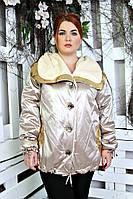 Куртка женская большого размера Ингрид 018 (3 цвета), ветровка батал 54, горчица