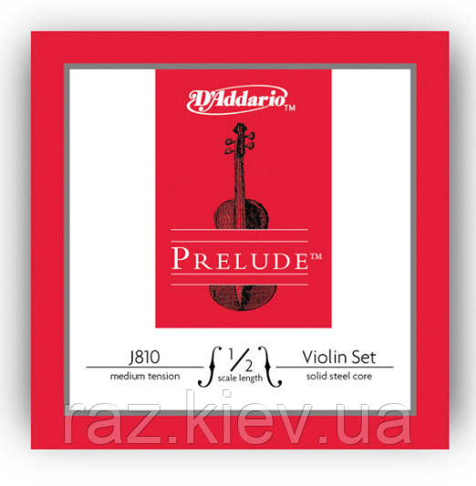 Струны для скрипок, включая модели с магнитными  и пъезо звукоснимателями D`ADDARIO J810 1/2M Prelude 1/2M