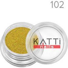 KATTi Блестки в баночке 002 LGS-102 золотистые мульти-перелив голографические мелкие