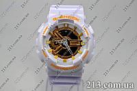 Спортивные часы с водозащитой Casio GA-110RG-7AER White белые  , фото 1