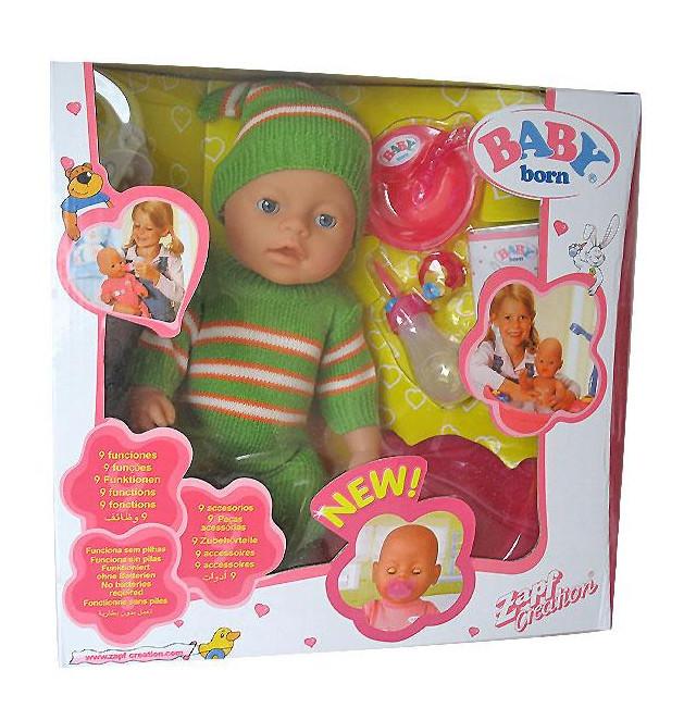 Кукла пупс 8001-2-3-4 Беби борн Baby Born 9 функций (зима)
