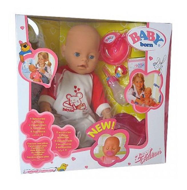 Кукла пупс 8001 Baby Doll  8 функций (лето)