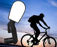 Велосипедное зеркало заднего вида в трубу руля, регулируемое 360,в ручку /в торец руля, три степени свободы