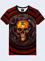 Мужская футболка Змея и Череп