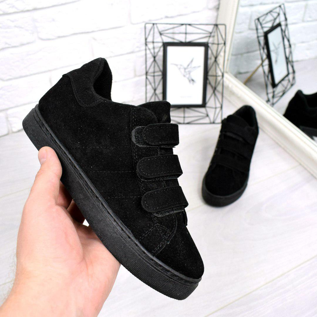 fd6d56b43a44 Купить Кроссовок криперы Липучку чёрный, женскую обувь по низкой ...