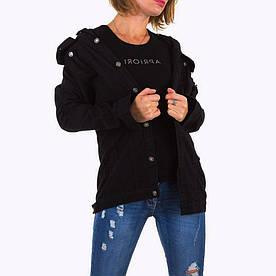Черная рваная джинсовка оверсайз Noemi Kent Paris (Франция) Черный