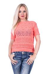 Ажурная вязаная блуза — модно в любое время года