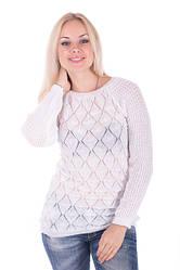 Ажурная вязаная блуза для бизнес-леди: стильно и элегантно!