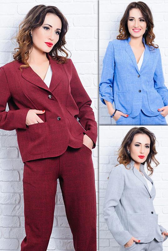 Женские льняные пиджаки *МИКАНОС* от производителя