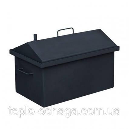 Коптильня горячего копчения крышка домиком с покраской, фото 2