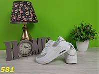 Кроссовки аирмаксы белые с серебристыми блестками, фото 1