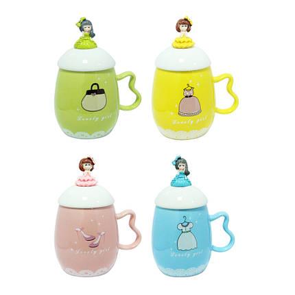 Детская чашка с крышкой Принцесса, 360 мл, фото 2