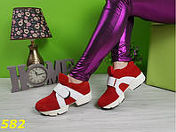 Кроссовки на платформе с липучкой , фото 1