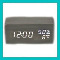 Настольные часы с белой подсветкой VST-862S-6!Акция