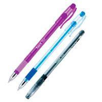 Ручка шариковая Axent Fest. Прорезиненная область захвата, металлизированный наконечник. Пишущий узел - 0.5 м