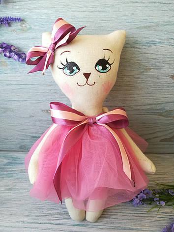 Игрушка кошка роза-бордо, фото 2