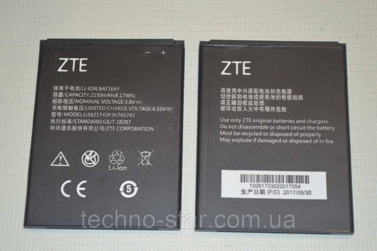 Оригинальный аккумулятор Li3821T43P3h745741 для ZTE Blade L5 | L5 Plus | T520 2150mAh