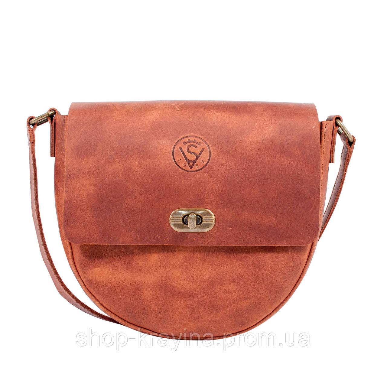 Кожаная сумка VS221  ginger 20х20х5 см