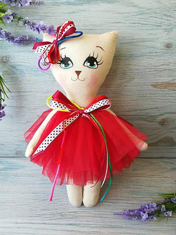 Игрушка кошка в красном платье, фото 2
