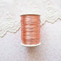 Металлизированная нить для вышивки, Индия, 0.5 мм - светлая медь