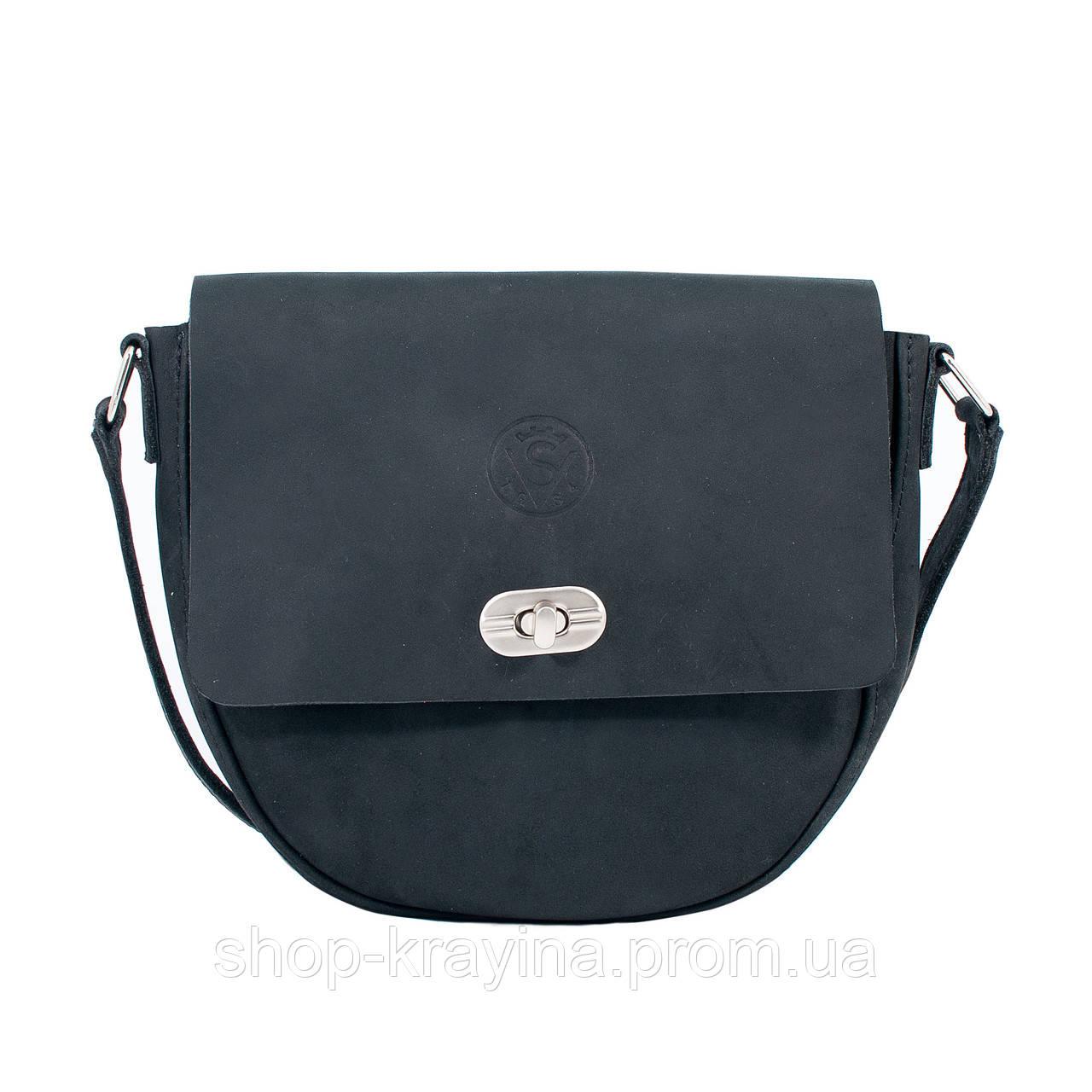 Кожаная сумка VS221  black 20х20х5 см