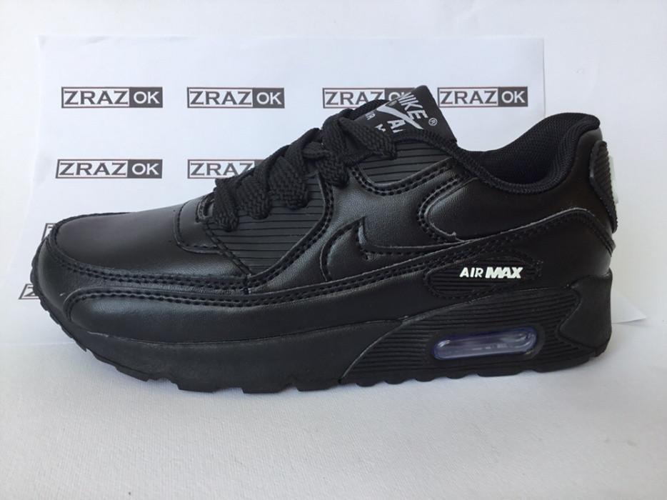 f05b9ae0 31 32 33 34 рр Кроссовки черные кеды детские подростковые NIKE Air Max BLACK  - ZrazOK
