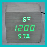 Настольные часы с зеленой подсветкой VST-872S-4