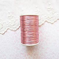 Металлизированная нить для вышивки, Индия, 0.5 мм - розовая