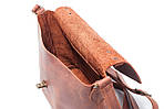 Кожаная сумка VS222 ginger 22х18х8 см, фото 4