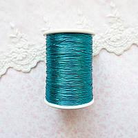 Металлизированная нить для вышивки, Индия, 0.5 мм - морская волна