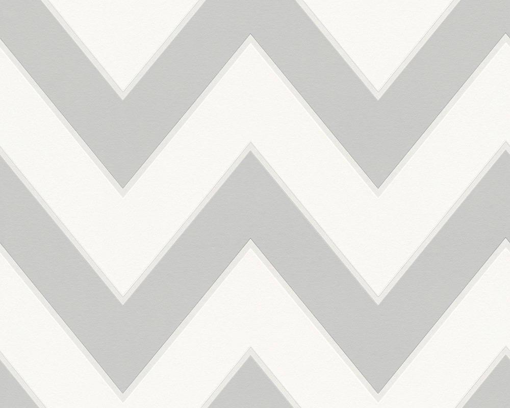 Дизайнерские немецкие обои, светло серый шеврон зигзаг, High Rise Michalsky 939435, узор зигзагообразные линии
